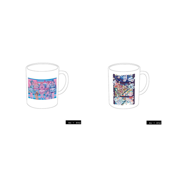 ●マグカップ(2種) 各1,160円(税別) Yes!プリキュア5GoGo! by najuco (左) Yes!プリキュア5GoGo! by 丸紅茜(右)