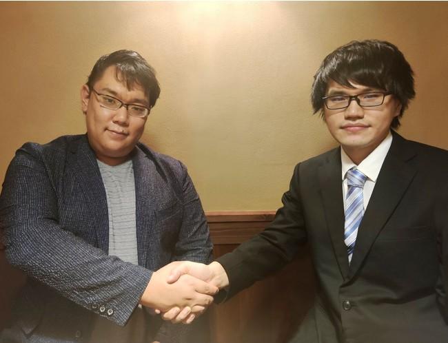 Mark-on 代表取締役 檜山正樹(左)、ラペットテクノロジーズ 代表 根岸匠(右)