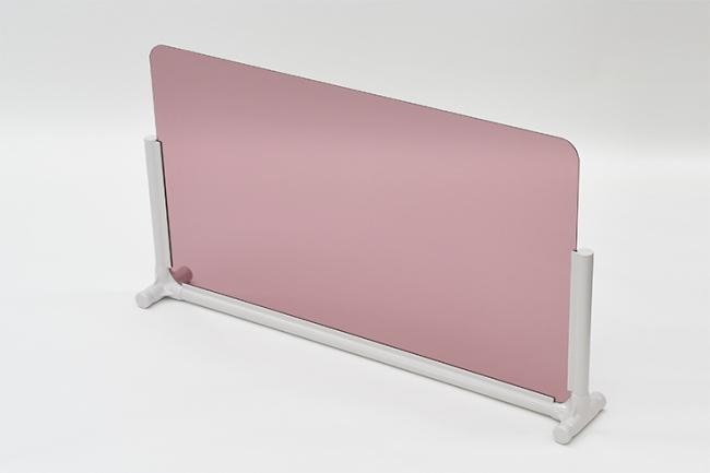 <パーソナルスペース 透明パネルタイプ > ●品番:EPS-9050 BR ●サイズ:間口968×奥行140×高さ531mm ※パネルサイズ:900×500mm ※パネル:ブラウン(透明)