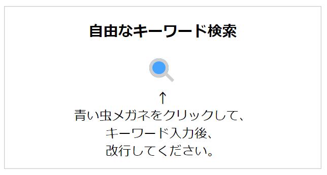 自由なキーワード検索(1)