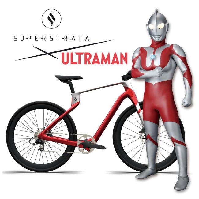 ウルトラマンデザインのオーダーメイドカーボンファイバー製自転車 ...