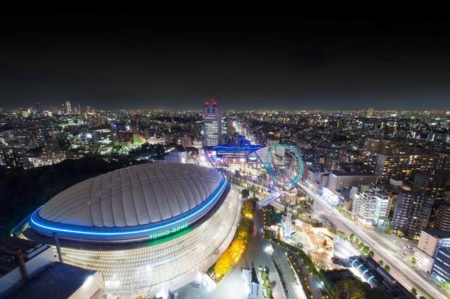 客室から見える東京ドームシティのイルミネーションイメージ