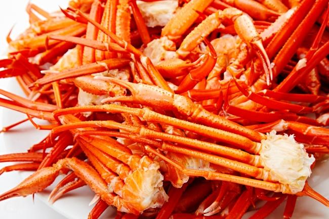 北海道産紅ズワイ蟹のボイル