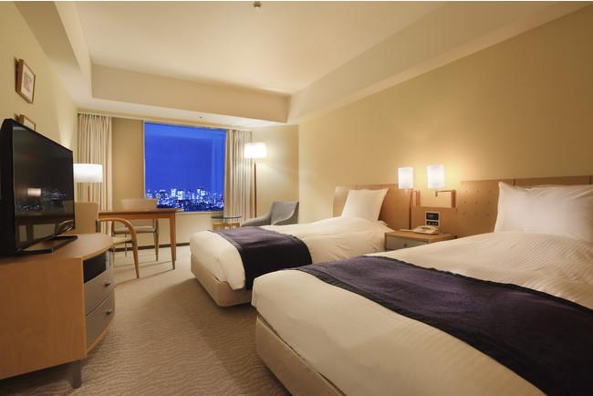客室例:スタンダードツインルーム(高層階)