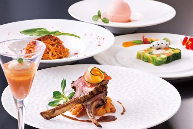 彩り豊かなイタリア料理のディナーコース(イメージ)