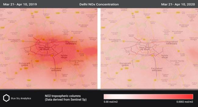 「BreeZo」 インド首都デリー BeforeコロナAfterコロナでの大気汚染状況の比較