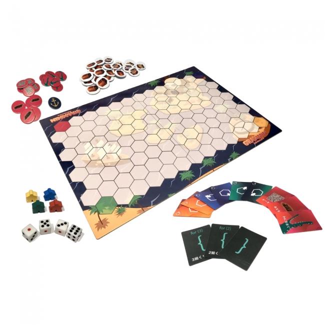 8歳の小学生と父親が一緒につくった、プログラミング的思考が学べるボードゲーム「グラミン探検隊」正式発売!