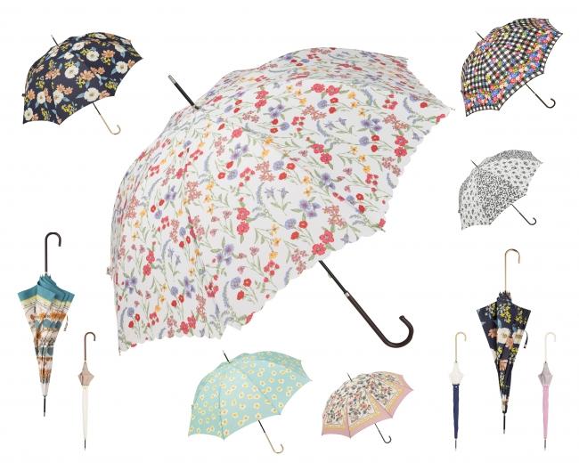 カラフルな傘を展開しています