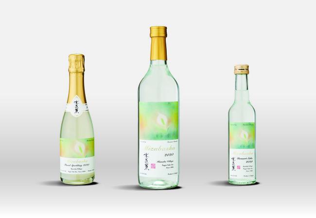 ▲左から スパークリング酒(食前酒)、スティル酒(食中酒)、デザート酒(食後酒)