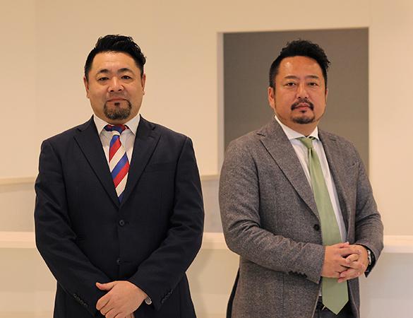 左からエコノハプラス株式会社 代表取締役 熊澤征太郎 エコノハ株式会社 代表取締役 柳川知徳