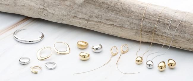 BEANTII Jewelryの「GLOSSY」コレクションのライナップの一部です。