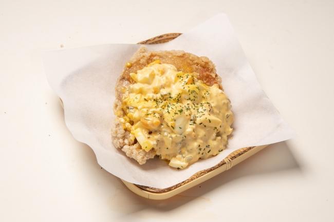 一枚揚げ南蛮タルタルソース(単品510円・弁当630円)240gのボリューミーな鶏もも肉を卵たっぷりの自家製タルタルソースで