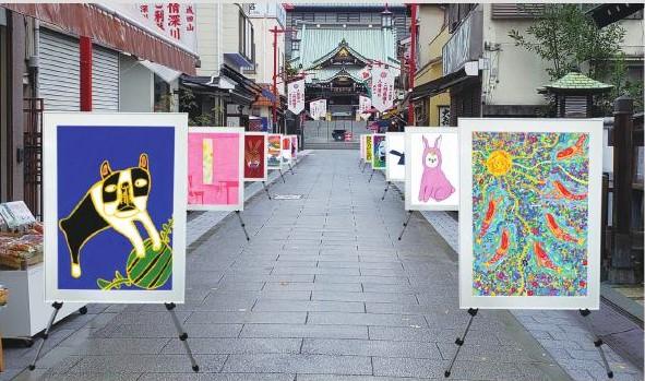深川不動尊の門前商店街にも「街なかアート」の展示が(写真はイメージです)