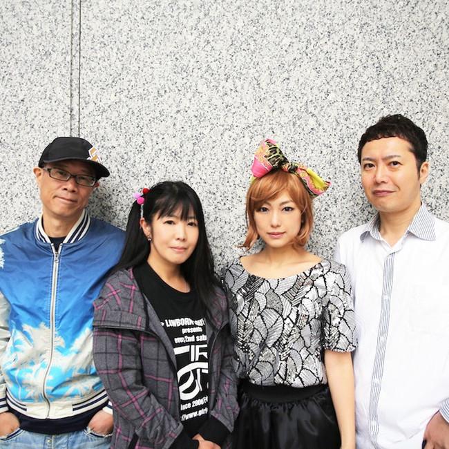 (L→R)hajirock、神無月ひろ、椿かおり、古澤彰