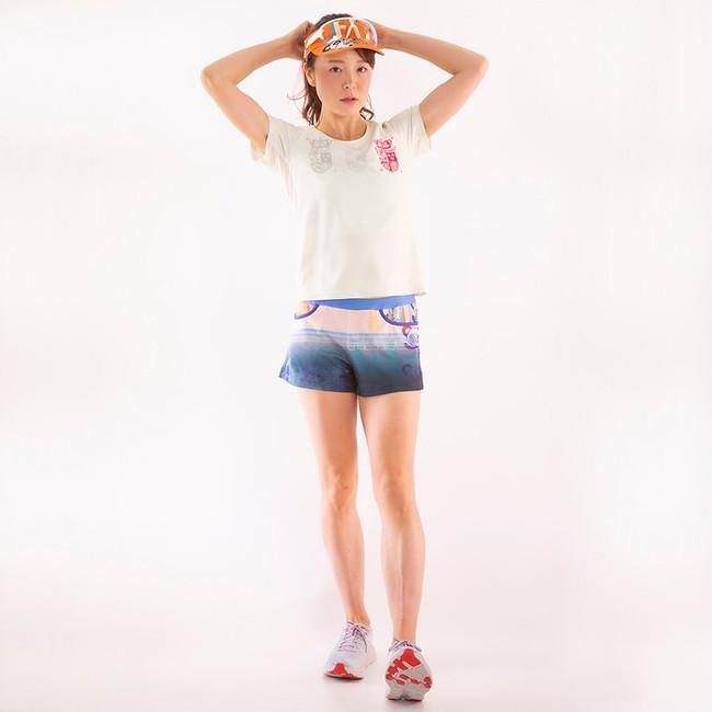 WHITE RUN PANDA! Ladies CARBON Tシャツ/Pink emblem