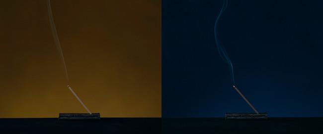 左:燈 tomoshibi 右:熄 uzumibi