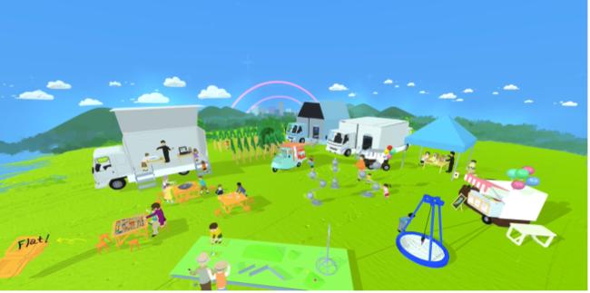 図1:ものづくりテーマパーク「アソビバ」(VRで制作したイメージ動画 出所:せきぐちあいみ)