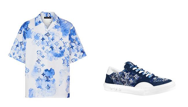 (左から)シャツ ¥1,030,000、スニーカー ¥373,000(ともに限定商品)