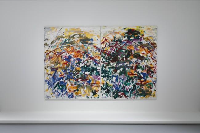 《SOUTH》ジョアン・ミッチェル 1989年 油彩、キャンバス(二連画) 260.1 x 400.1 cm エスパス ルイ・ヴィトン大阪での展示風景(2021年)