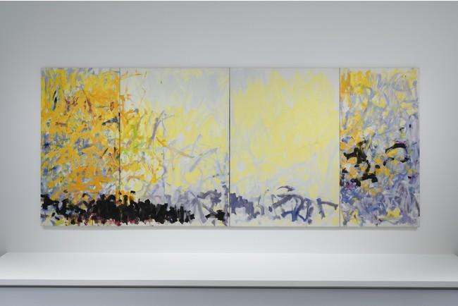 《MINNESOTA》ジョアン・ミッチェル 1980年 油彩、キャンバス(四連画) 260.4 x 621.7 cm エスパス ルイ・ヴィトン大阪での展示風景(2021年)
