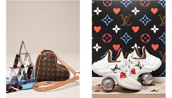 (左から) サック クール¥233,000、LVアークライト・ライン スニーカー¥134,000