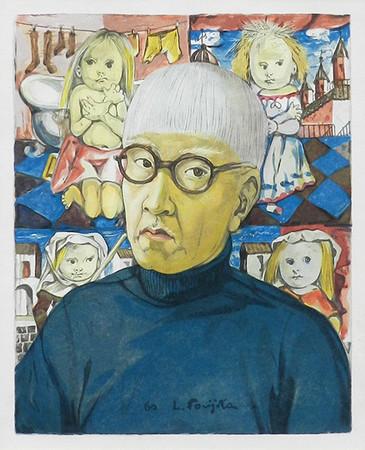「小さな職人:自画像」1960年 木版