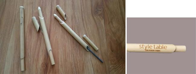 style tableロゴ入り竹製ボールペン