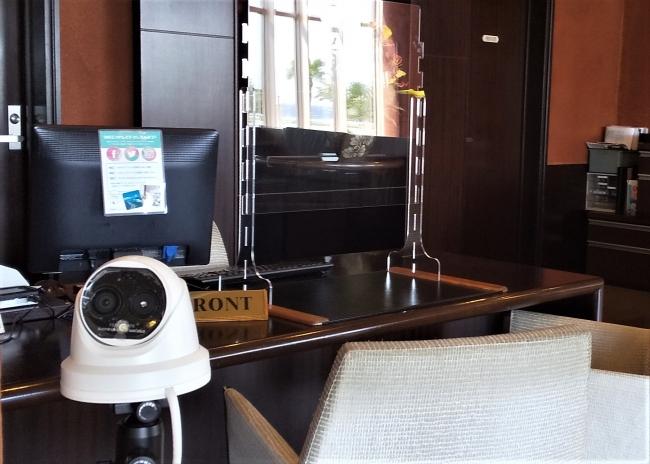 サーモグラフィカメラによる体表温チェック