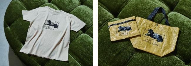 Tシャツ 5,000yen(+tax) ポーチ 2,900yen(+tax) トートバッグ 3,500yen(+tax)