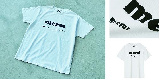 merci T-Shirt 3,500yen (+tax)※代官山本店:9.21(Sat) より先行発売予定 ※OFFICIAL WEB SHOP:9.20(Fri) より先行発売予定