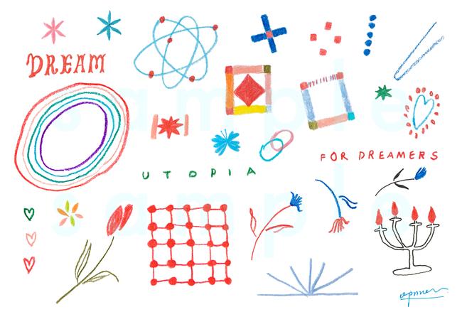 for dreamers ¥1,650(税込) ※モデル使用デザイン