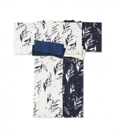 【M×kyomadoka】浴衣 price:¥49,000(+tax) color:ホワイト× ネイビー・ネイビー× ホワイト size:38