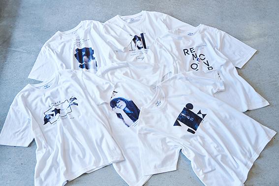 T シャツ 各¥5,000(+tax)
