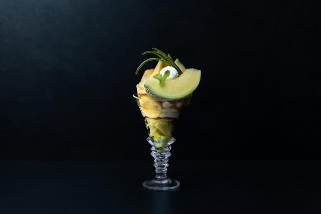 メロンとレモンのグランパフェ(2,800円)