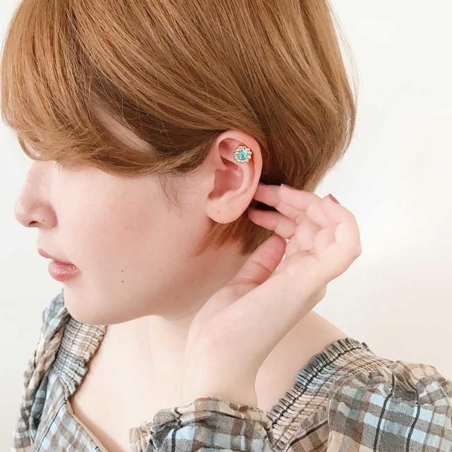 軟骨部分にも装着可能(耳の厚さにより装着可能箇所は個人差があります)