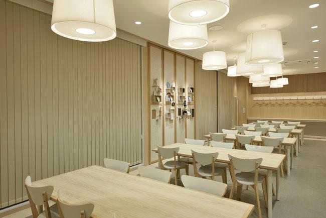 イベントや手作り教室を開催している本店3Fのアトリエスペースは約30名収容可能。