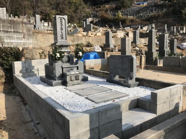 墓地の再建例