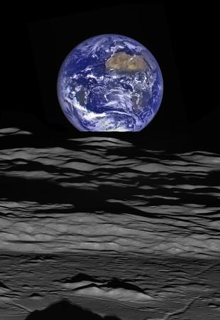 月探査機ルナー・リコネッサンス・オービターがとらえた「地球の出」