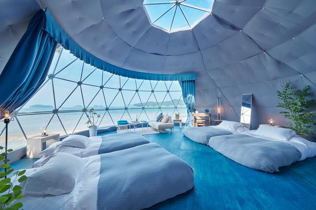 海の棟の室内。ドーム毎にインテリアが異なる