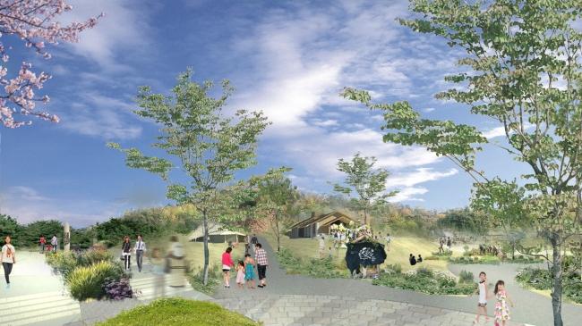 四季の郷公園エントランスイメージ図