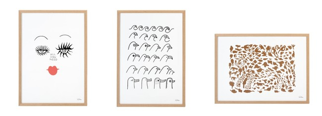 アートポスター (オールユーニード、バードハウス、チーター ブラウン 公式オンラインショップ&表参道ストア及び 一部ライフスタイルストア限定)