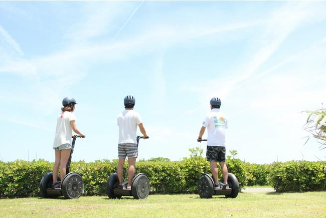 ANA ホリデイ・インリゾート宮崎 隣接の芝生のエリアでセグウェイ散歩