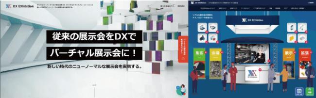 従来の展示会をオンライン・バーチャルで叶えるDXEXhibition/バーチャル展示会パッケージBタイプ