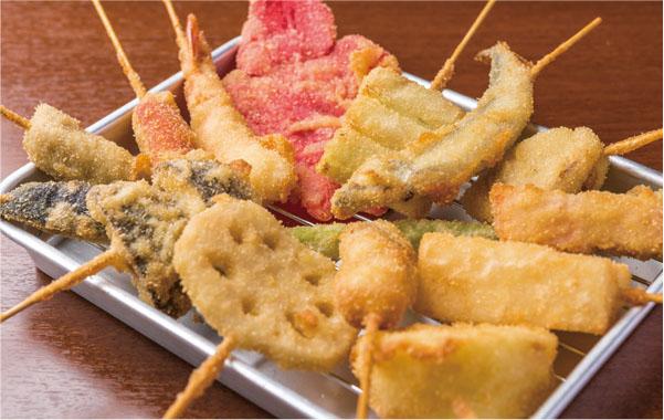 大阪伝統の味が自慢の串カツ