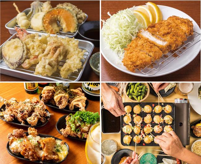 天ぷら、から揚げなど名物がずらり!