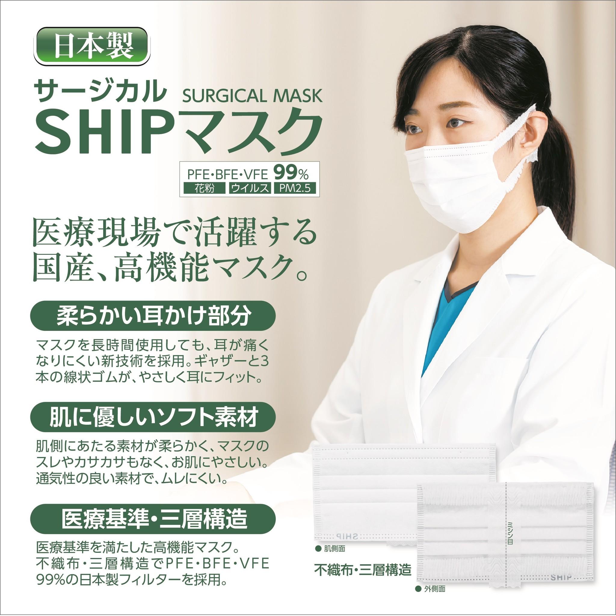 製 日本 サージカル マスク