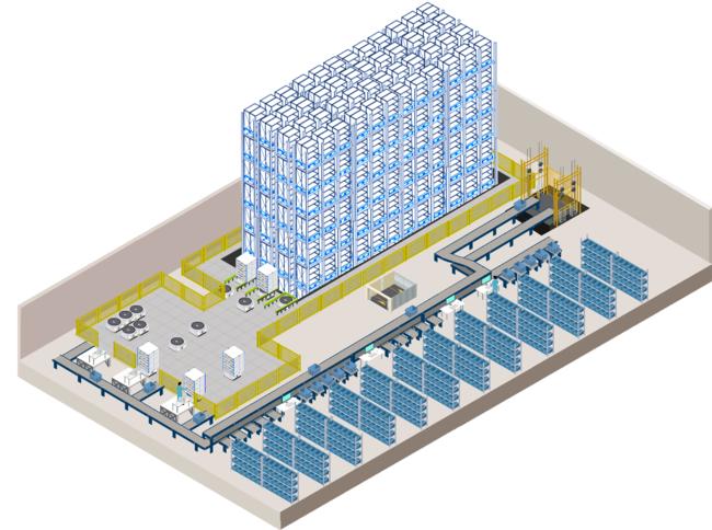 大阪ソリューションセンター 4F立体図(イメージ図)