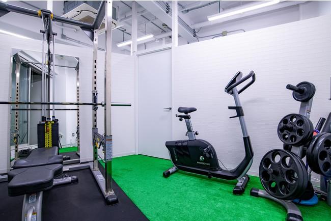 トレーニングルームは完全個室