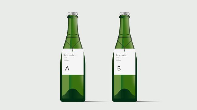 新しい酒蔵で最初につくる試験醸造酒タイプAとタイプB
