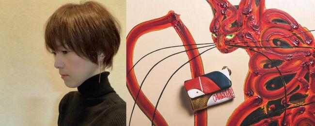 左:木原千春 右:第一弾 木原千春モデル マルチコンパクトウォレット